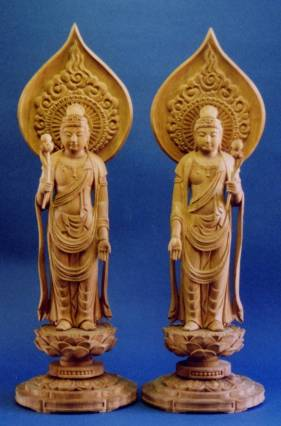 日光菩薩像と月光菩薩像(仏像事...